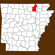 Sharp County - Statewide Map