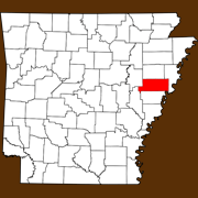 St. Francis County - Statewide Map