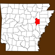 Woodruff County - Statewide Map