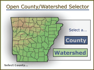 Open County/Watershed Selector