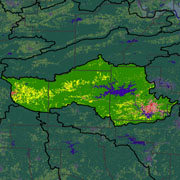 Watershed Land Use Map - Ouachita Headwaters