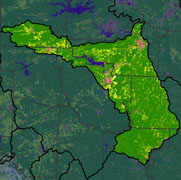 Watershed Land Use Map - Upper Ouachita