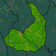 Watershed Land Use Map - Lower Ouachita-Smackover
